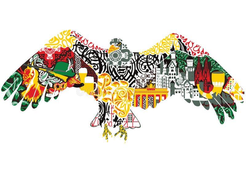 Eagle con los modelos libre illustration