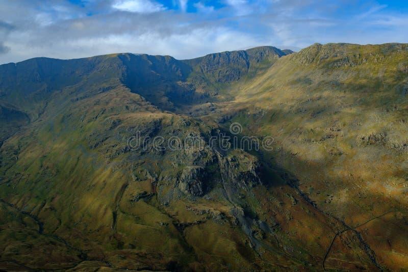 Eagle Crag bekeek van St Zondagsteile rots stock afbeelding