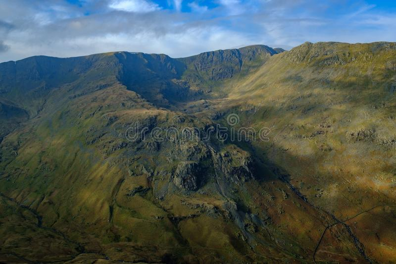 Eagle Crag sah von Felsspitze St. Sonntag an stockbild