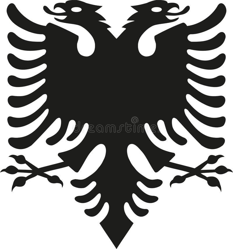 Eagle da bandeira de Albânia ilustração do vetor