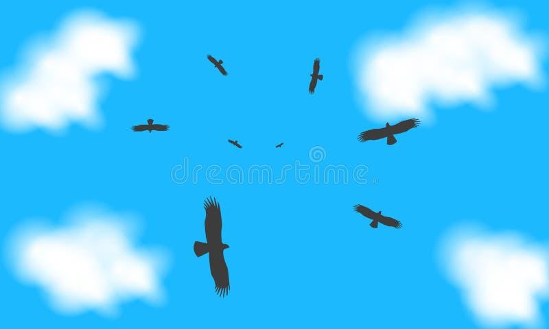 Eagle in de hemel royalty-vrije illustratie