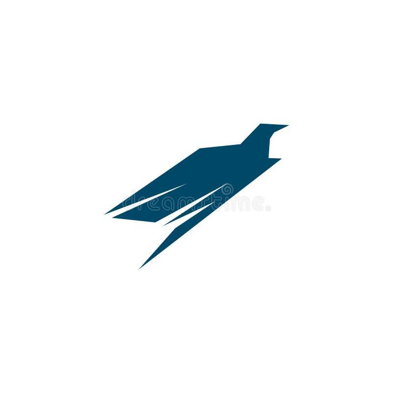 Eagle-de inspiratie vectormalplaatje van het embleemontwerp royalty-vrije illustratie