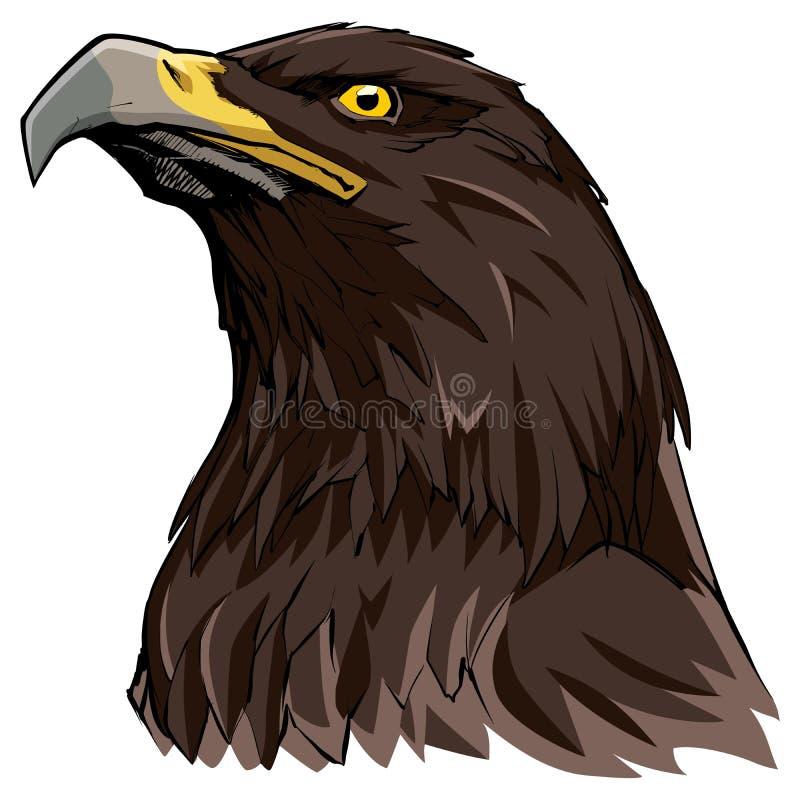 Eagle de oro en blanco ilustración del vector