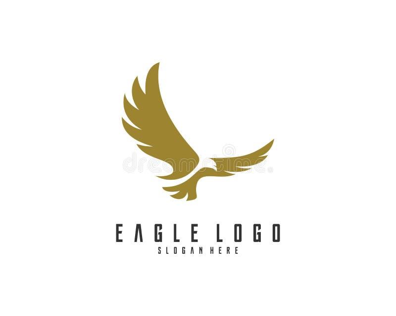 Eagle-de vector van het embleemontwerp, Eagle-pictogramembleem stock fotografie