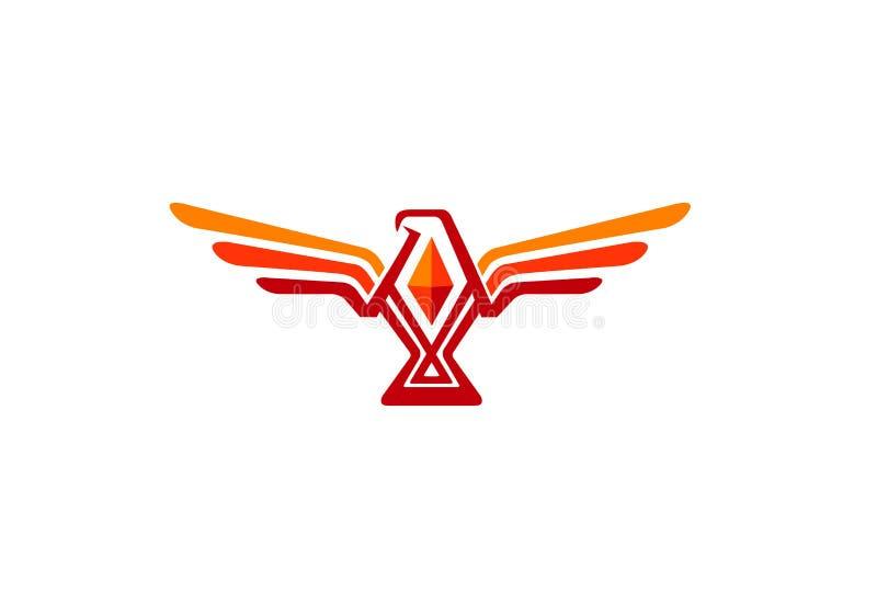Eagle Design Logo anaranjado vibrante creativo libre illustration