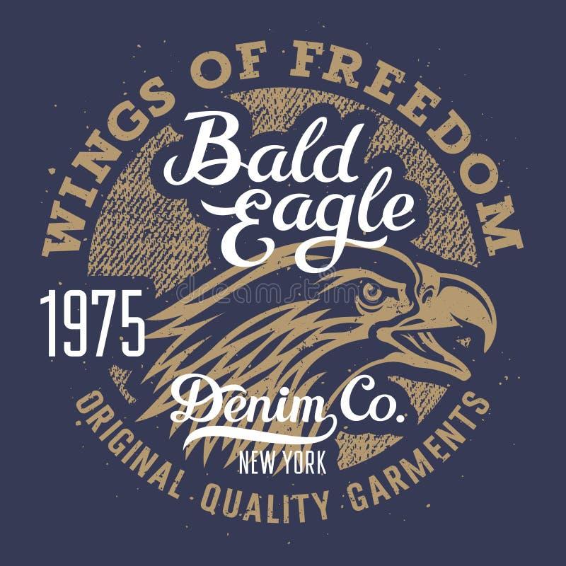Eagle-druk 003 stock illustratie