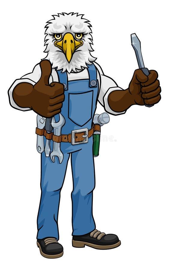 Eagle Electrician Handyman Holding Scredriver royalty-vrije illustratie