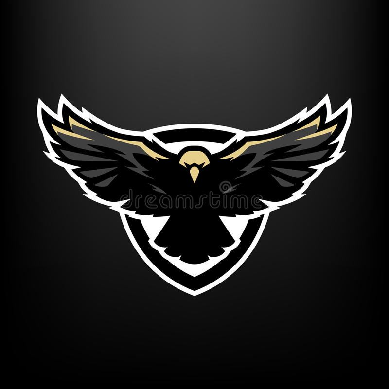 Eagle em voo, logotipo, símbolo ilustração stock