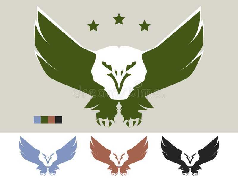 Eagle-embleem vector illustratie