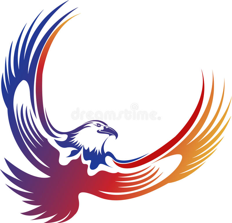 Eagle-embleem royalty-vrije illustratie