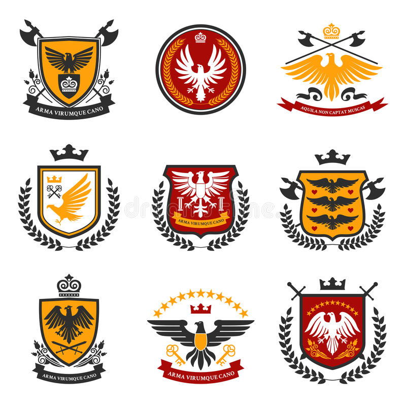 Eagle Emblem Set vektor abbildung