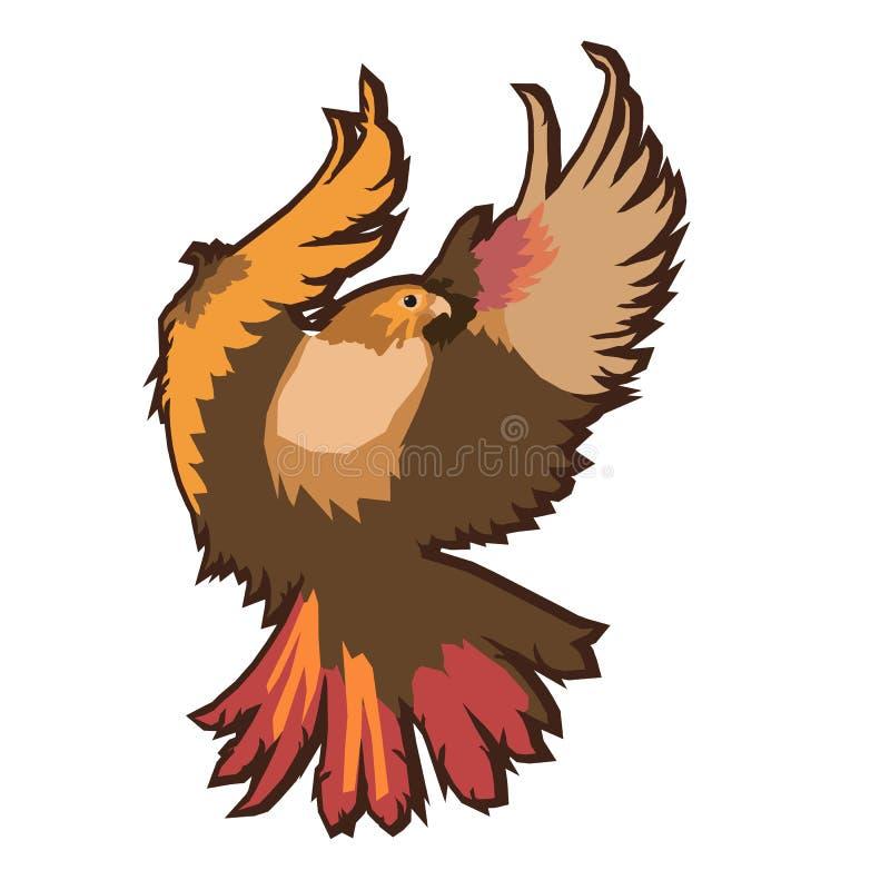 Eagle emblem som isoleras på den vita vektorillustrationen Amerikanskt symbol av frihet stock illustrationer