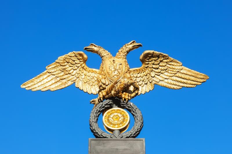 Eagle en la parrilla del museo ruso, St Petersburg fotos de archivo libres de regalías