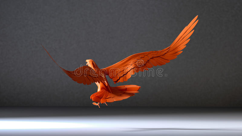 Eagle en ruimte vector illustratie