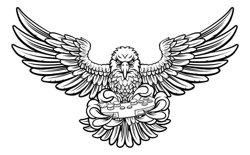 Eagle Esports Sports Gamer Mascot ilustração royalty free