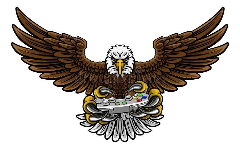 Eagle Esports Sports Gamer Mascot royalty illustrazione gratis