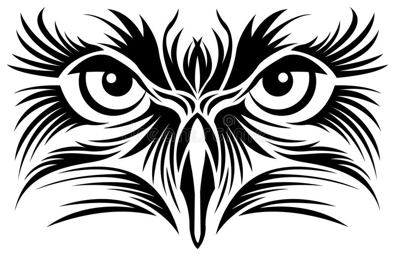 Eagle eyes tattoo vector illustration