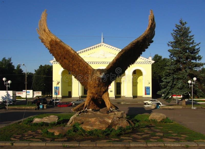 Eagle fågel, symbolet av den Orel staden, Ryssland royaltyfri foto