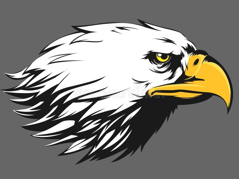 Eagle Face Vetora - desenhos animados da vista lateral ilustração royalty free