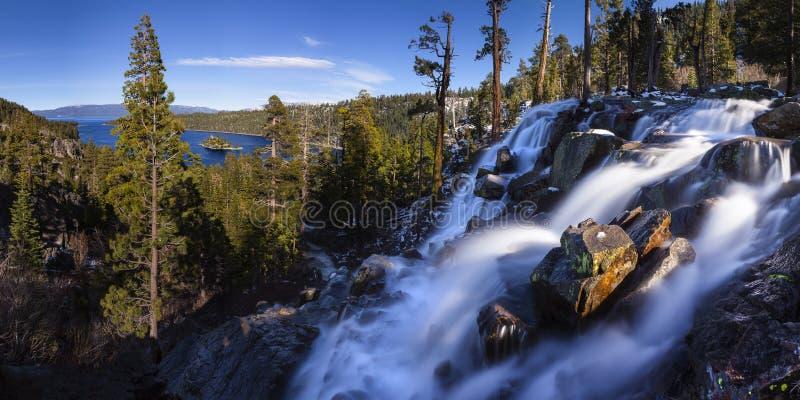 Eagle Falls Lake Tahoe, la Californie image libre de droits