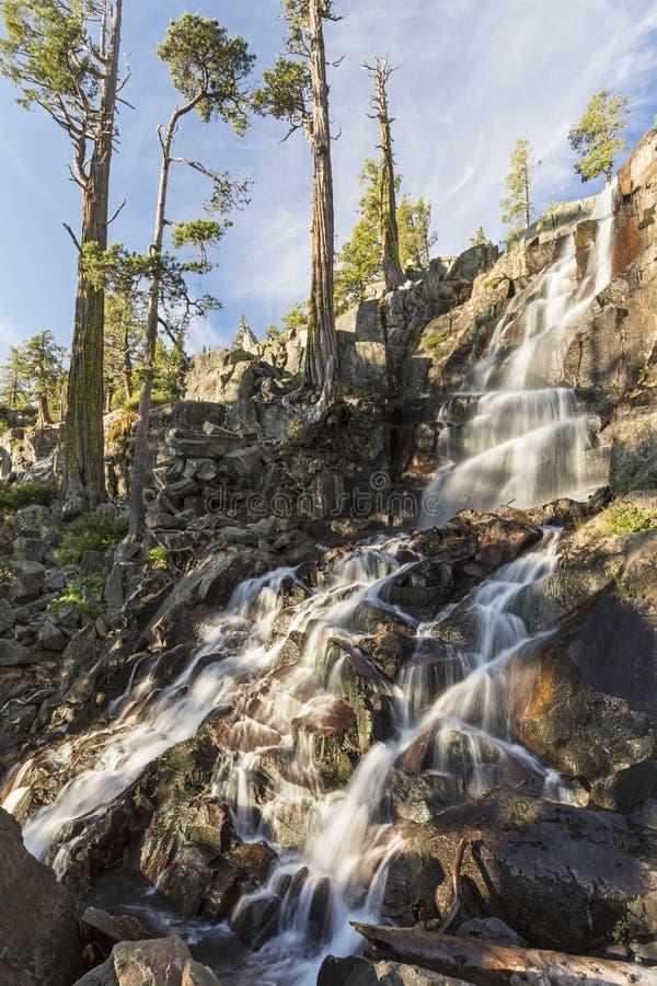 Eagle Falls och Cedar Trees arkivfoto