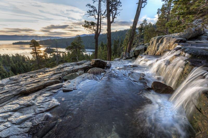 Eagle Falls Sunrise superior fotografía de archivo libre de regalías