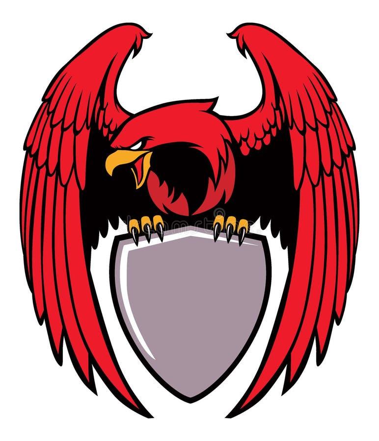 Eagle fattande ett tecken vektor illustrationer