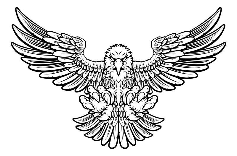 Eagle feroz stock de ilustración