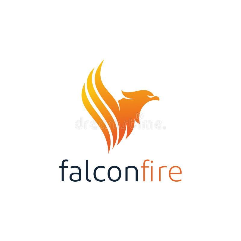 Flying Eagle Logo Design Inspiration Stock Vector