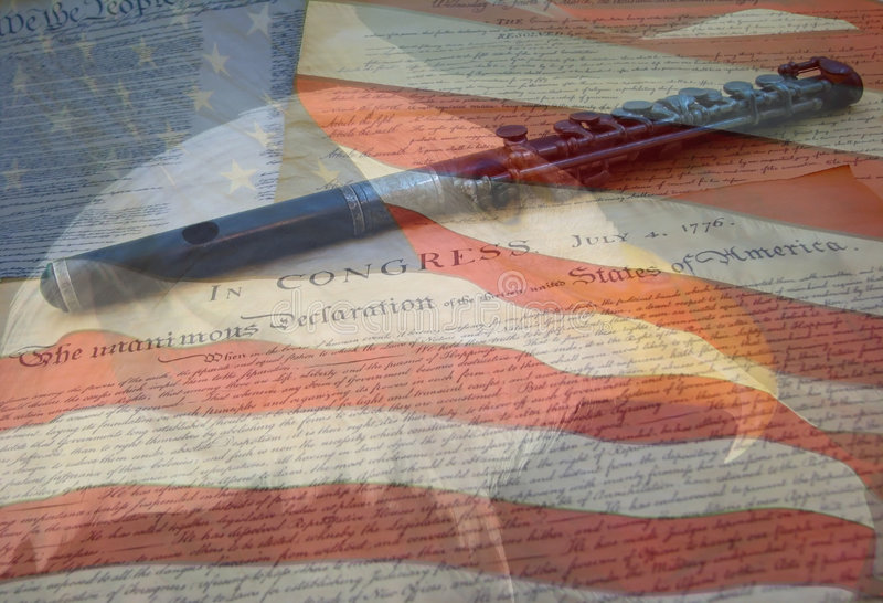 Eagle Flag and Documents