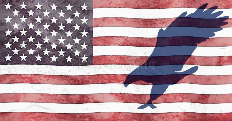 Eagle and Flag stock photo