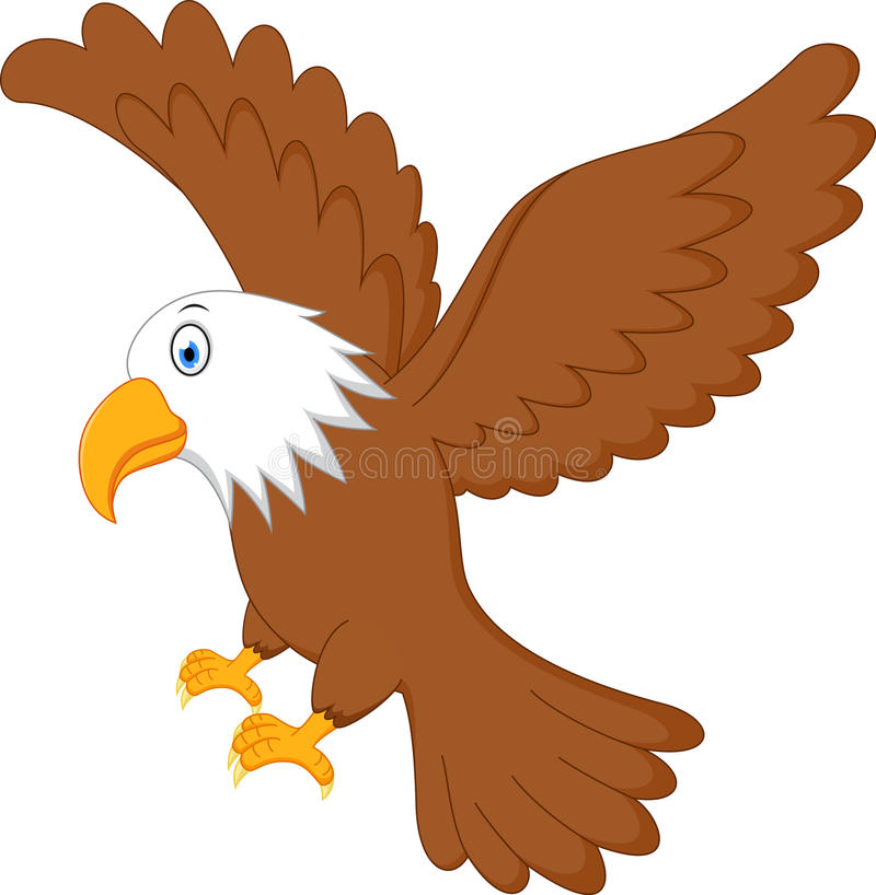 Eagle flyg vektor illustrationer