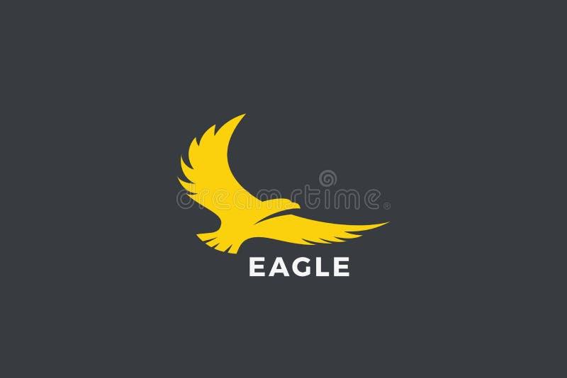Eagle Flying Soaring Logo abstract design vector template. Falcon Hawk Logotype concept icon stock illustration