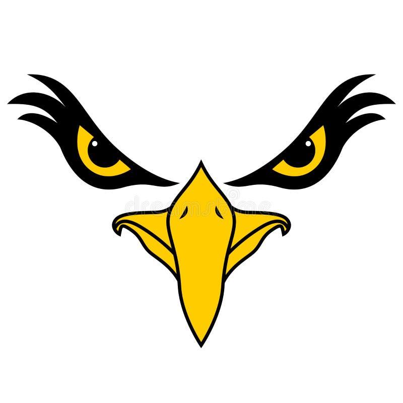 Eagle font face avec le regard intense illustration libre de droits