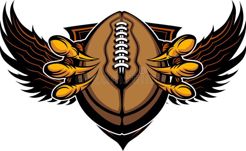Eagle Football Talons and Claws royalty free illustration