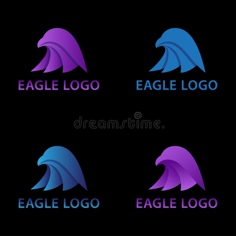 Eagle głowy piktografu pojęcia logo zdjęcia stock