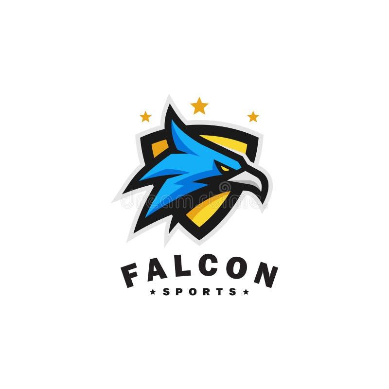 Eagle głowy sportów wektoru szablon ilustracji