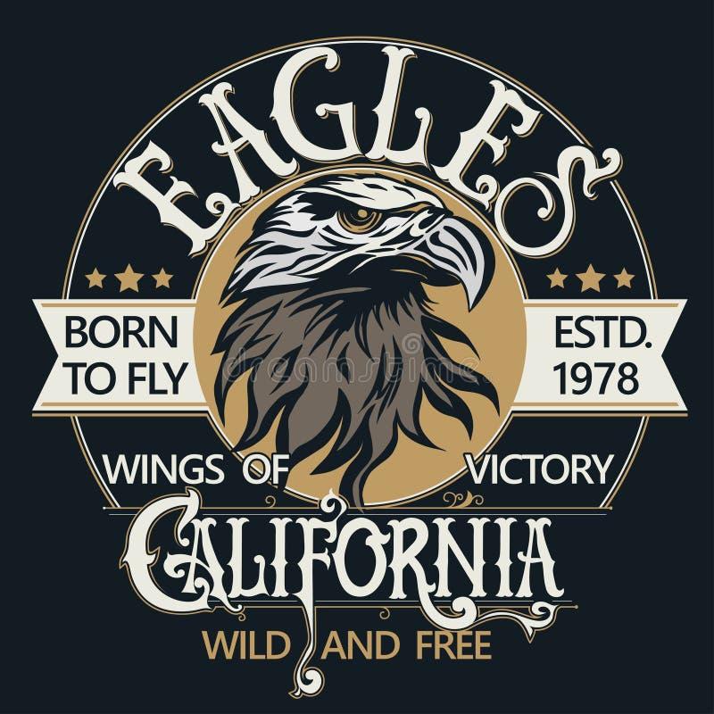 Eagle głowy loga wektor ilustracja wektor