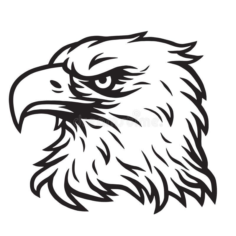 Eagle głowy maskotki Wektorowy Rysunkowy logo ilustracja wektor