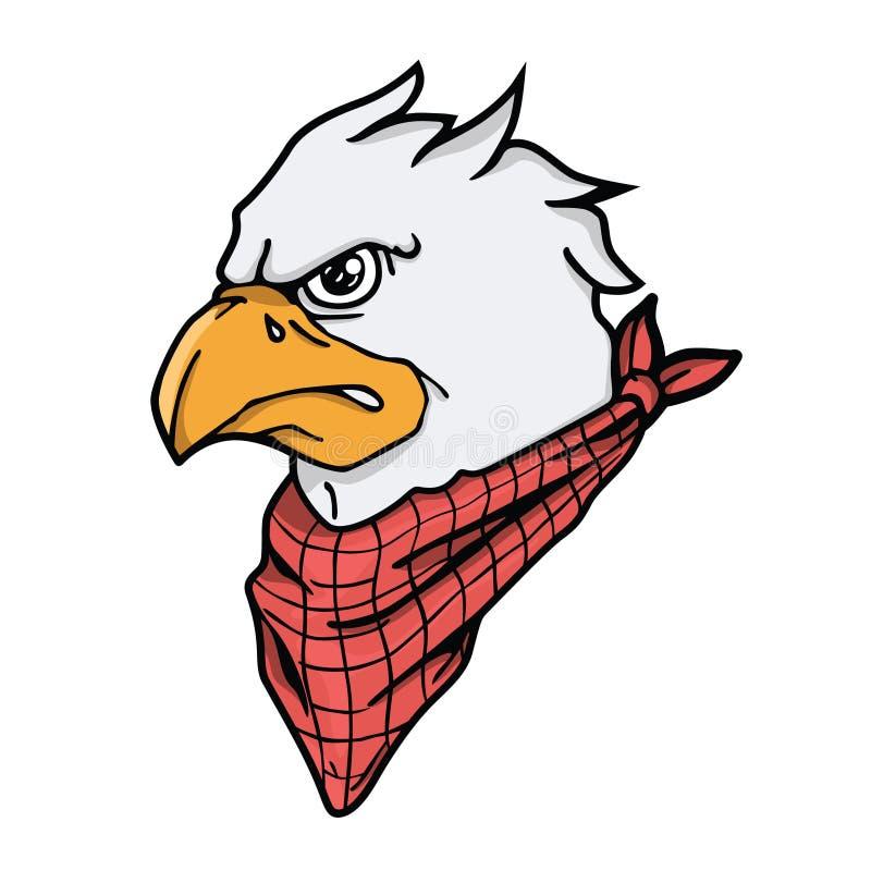 Eagle głowy silnika maskotka obrazy royalty free