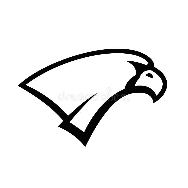 Eagle głowy znak Projektuje element dla sport drużyny loga, emblemat, odznaka, maskotka royalty ilustracja