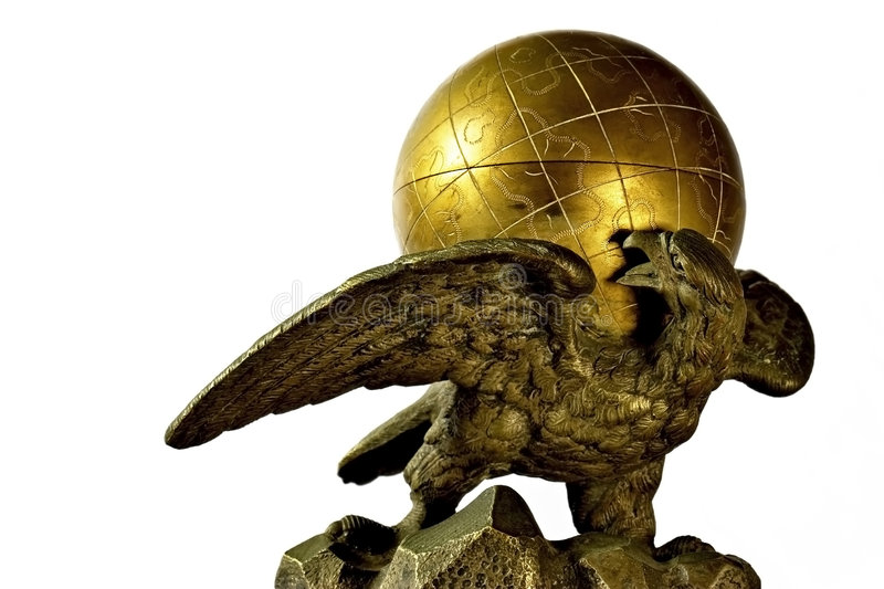 Eagle and Globe stock photography