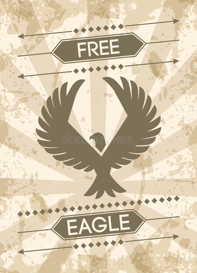 Eagle Grunge Poster ilustración del vector