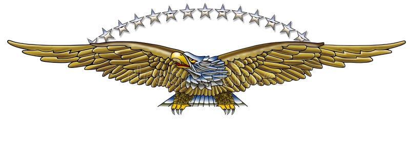 Eagle & gwiazdy ilustracji