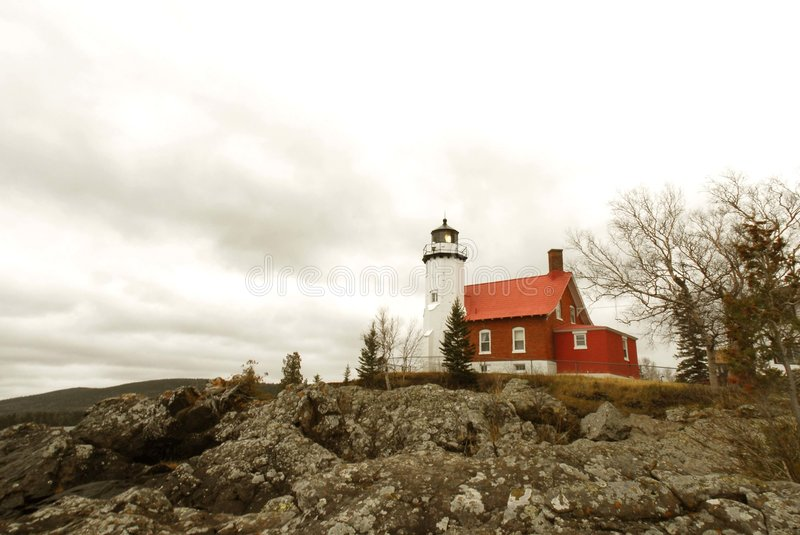 Eagle Harbor Light, Lake Superior, Michigan royalty free stock images