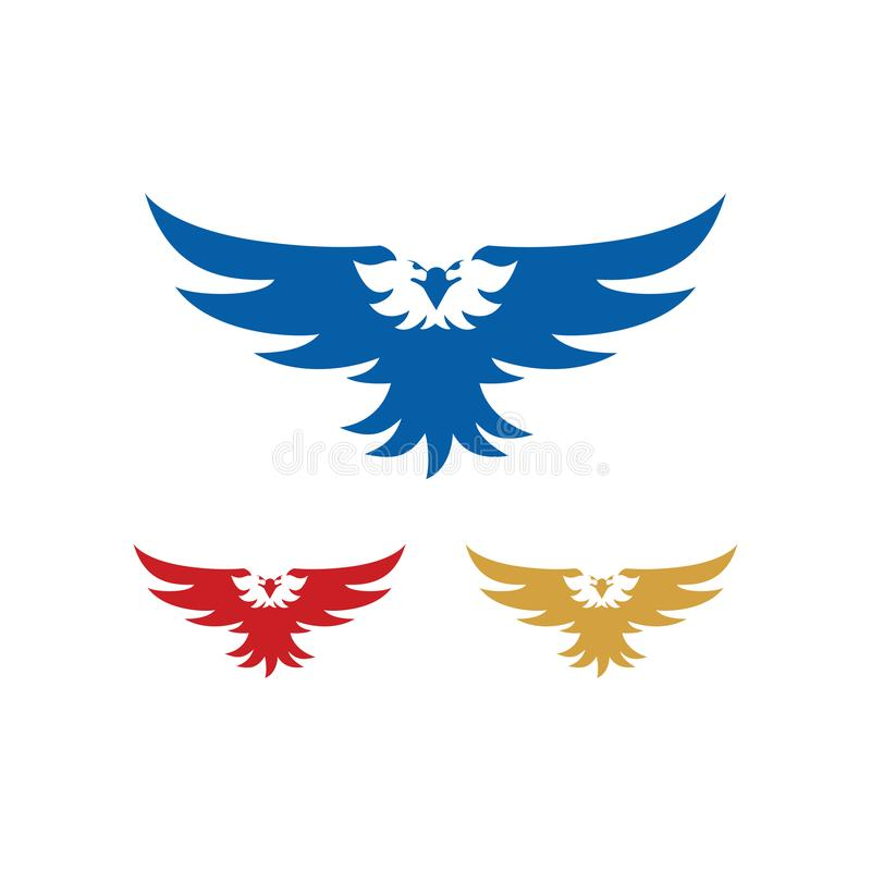 Eagle Hawk Predator Flying Wings Spread forte ilustração stock