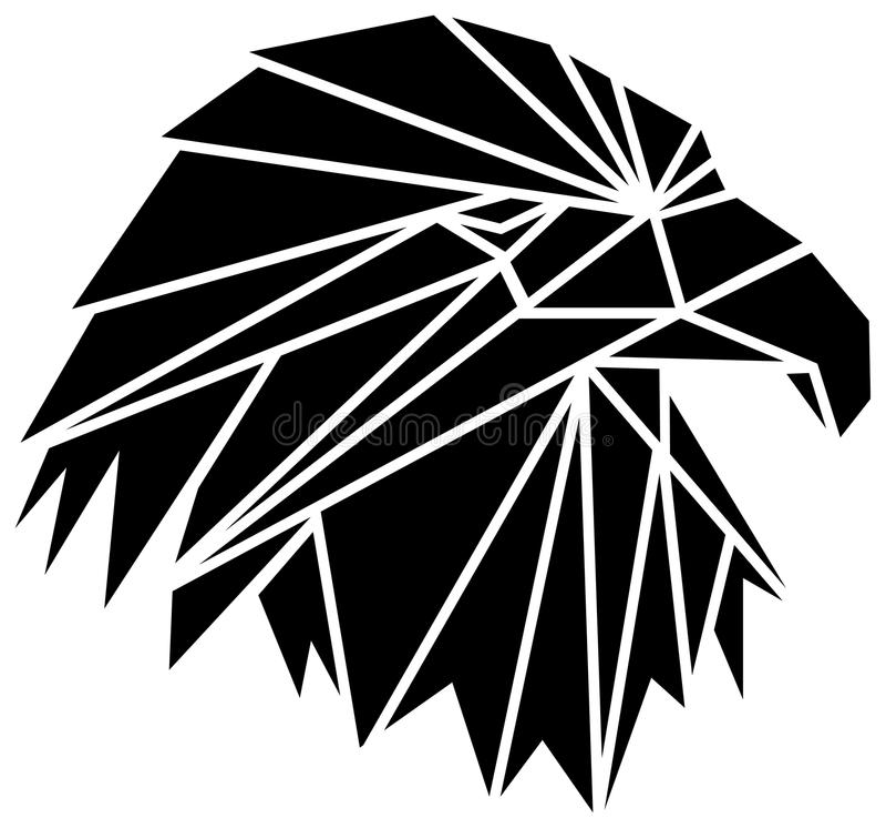 Eagle head stock illustration