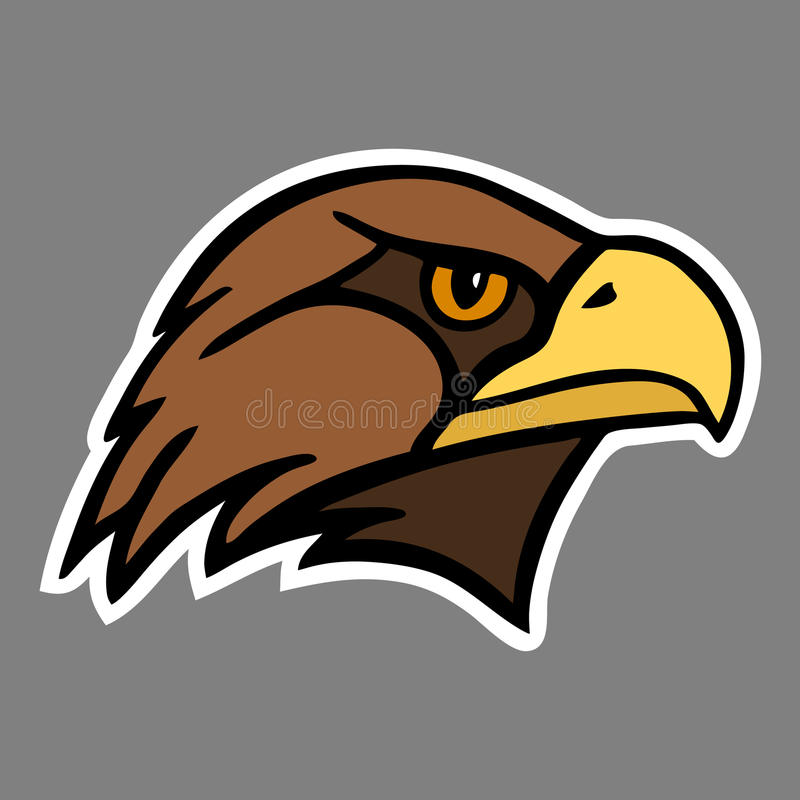 Eagle. The head of a bird of prey. Vector Image vector illustration