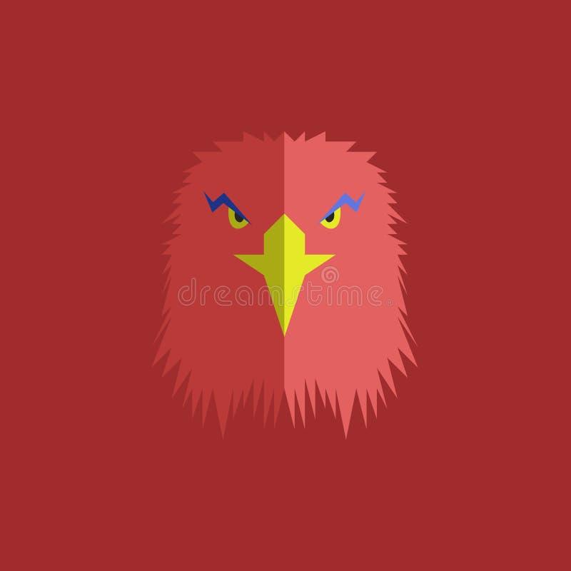 Eagle head emblem. Abstract symbol face bird stock illustration