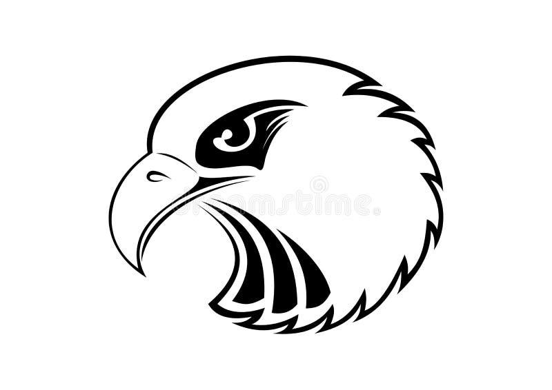 Eagle Head - emblema dell'illustrazione di vettore illustrazione vettoriale